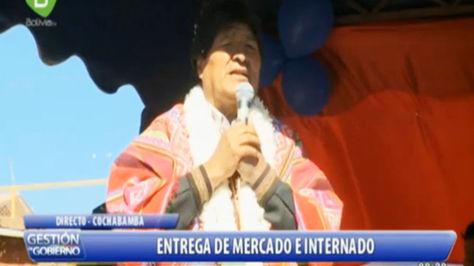 El presidente Evo Morales en Tapacarí