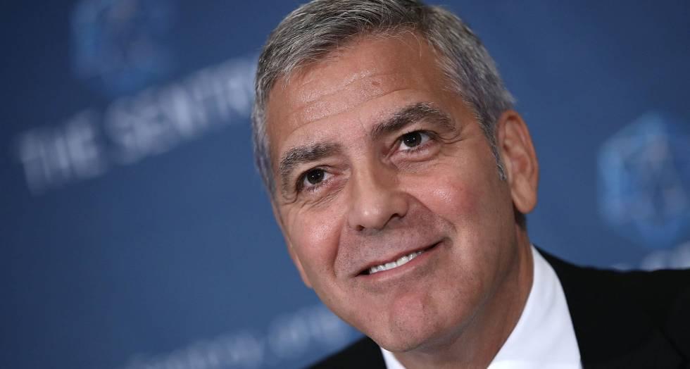 George Clooney, en el Club Internacional de Prensa.