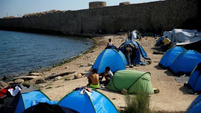 Cientos de refugiados permanecen en estos días en la isla de Quíos, en Grecia