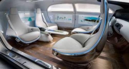 Interior del modelo de Mercedes Benz.