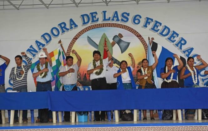 Federaciones del trópico de Cochabamba insisten en la candidatura de Evo para elecciones de 2019