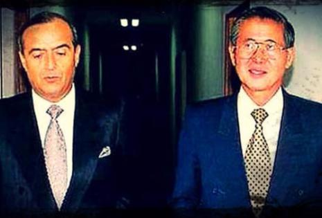 Vladimiro Montesinos junto a Alberto Fujimori en los años 90