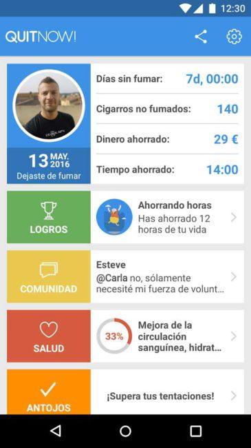 apps para dejar de fumar