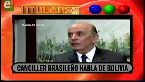 Titulares de TV: Canciller brasileño, José Serra, rechazó las críticas al gobierno de Michel Temer