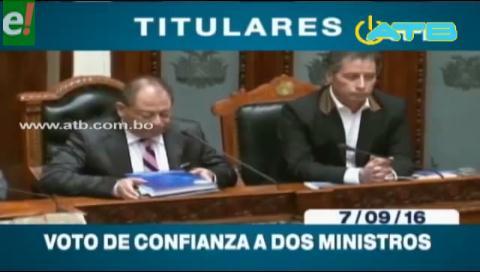 Titulares de TV: ALP ratifica voto de confianza a ministros Romero y Navarro