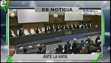 Titulares de TV: Agentes de Bolivia y Chile se reunirán en La Haya para definir el cronograma de actividades