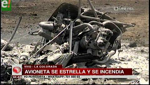 Fuera de peligro el piloto de la avioneta que cayó cerca del mercado Primavera