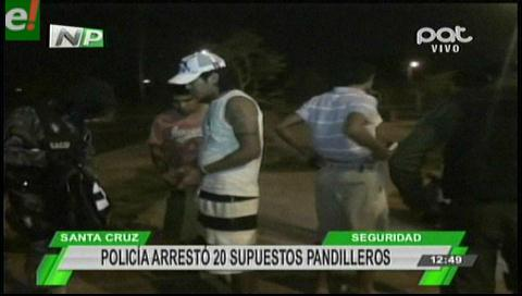 Detienen a 20 presuntos pandilleros con droga