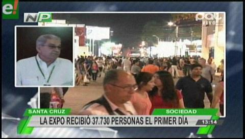 Expocruz 2016 recibió más de 37 mil personas en su primera noche