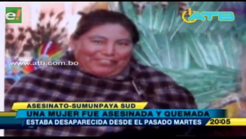 Asesinan y queman a una mujer en Cochabamba