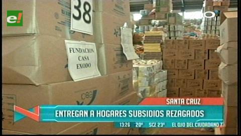 Ministerio de Salud entrega subsidios rezagados a hogares y centros de beneficencia de Santa Cruz