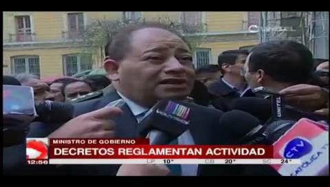 """Romero: """"La dinamita sirve para trabajo no para protestar porque es letal"""""""