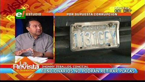 """Zeballos: """"Moreira defendía la retención de placas para ordenar la ciudad"""""""