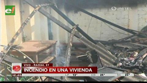 Bomberos sofocan incendio de una vivienda en la zona de la Radial 27