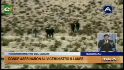 Policía realizó una inspección de campo donde asesinaron a Illanes