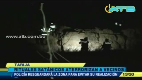 Jóvenes que hacen cultos satánicos causan temor en Tarija