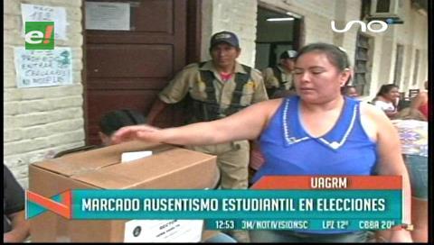 Media jornada: Votación en la Uagrm transcurrió sin inconvenientes