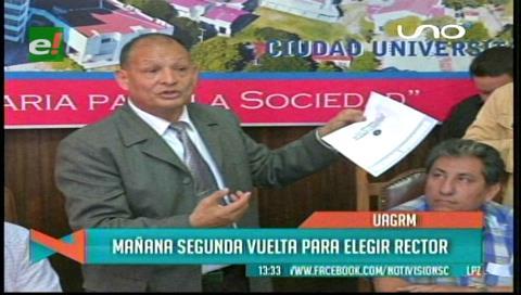 Uagrm: Todo listo para el balotaje entre Cadima y Rosas