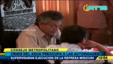 Gobernador Canelas y siete alcaldes de Cochabamba se reunieron para tratar crisis de agua