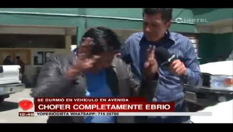 """La Paz: Detienen a conductor ebrio que manejaba un vehículo oficial de las """"Bartolinas"""""""