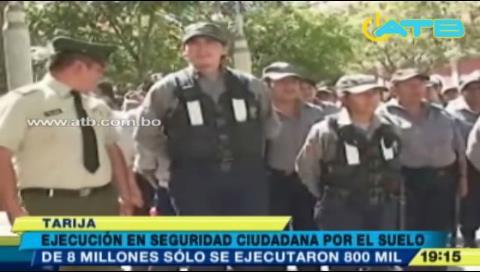 Gobernación de Tarija invirtió Bs 800 mil en Seguridad Ciudadana
