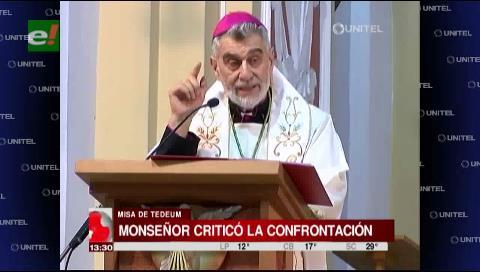 Tedeum: Monseñor Gualberti pidió no perseguir a los que piensan diferente