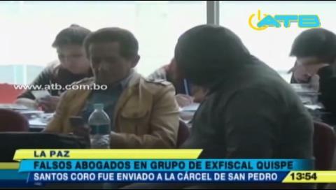 La Paz: Envían a prisión a falsos abogados que trabajaban con Humberto Quispe