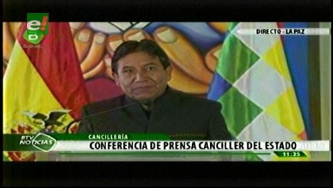 """Canciller: Evo esperaba que Santos lo llame """"como hizo con otros presidentes"""""""