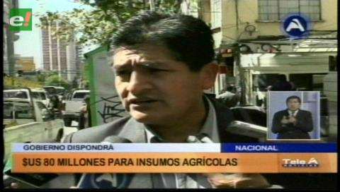 Crédito financiará obras e insumos agrícolas