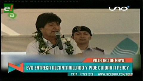 Evo pide a Santa Cruz cuidar a Percy Fernández