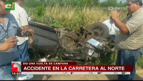Una persona resulta herida en accidente de tránsito entre Warnes y Montero