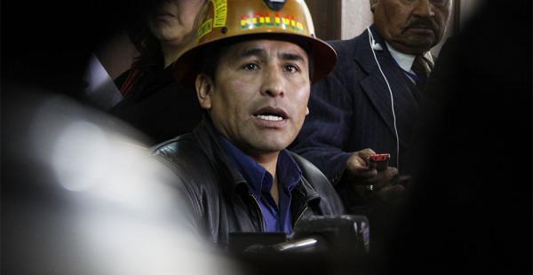 El ex dirigente minero Carlos Mamani está recluido en la cárcel