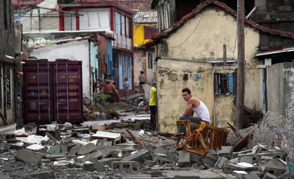 La destrucción dejada en Baracoa, Cuba.