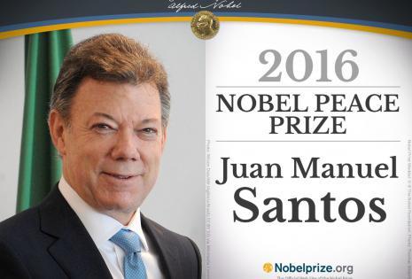 Juan Manuel Santos es el segundo colombiano en ganar un premio Nobel