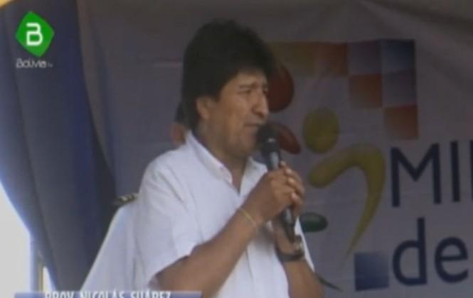 Morales insiste que indígenas tratan de perjudicar y chantajear la exploración de hidrocarburos