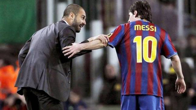 Guardiola y Messi compartieron cuatro temporadas en Barcelona. (EFE)
