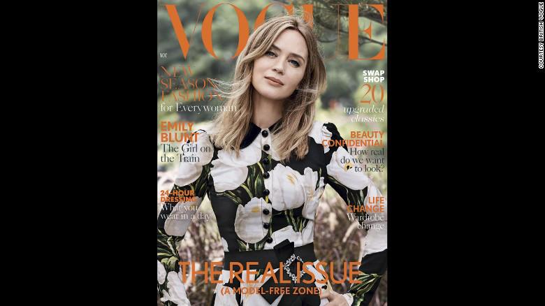 Emily Blunt, en la portada de la edición de noviembre de la revista Vogue británica, llamada el