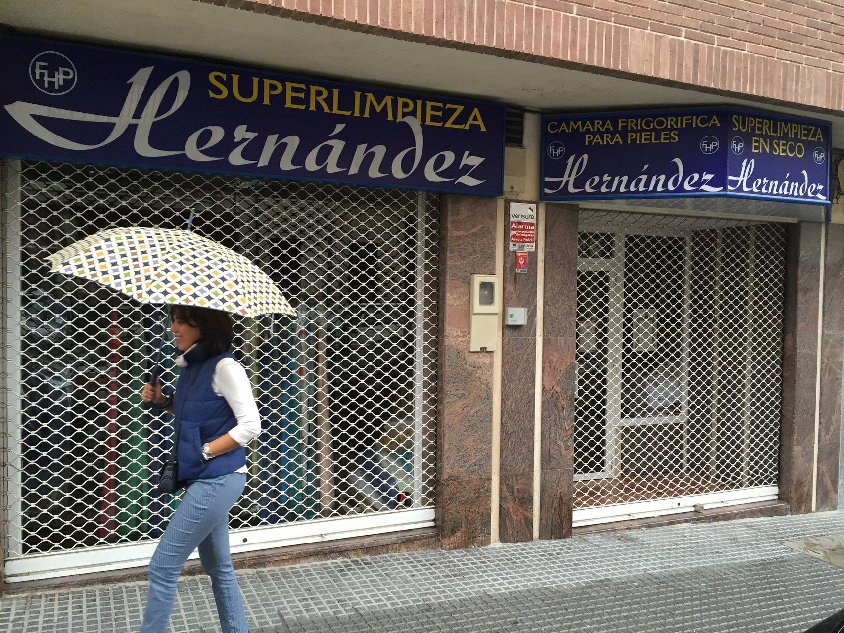 La tintorería Hernández, en Martos.