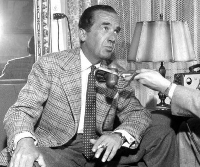 Edward Murrow, en Wiesbaden (Alemania) en 1956.
