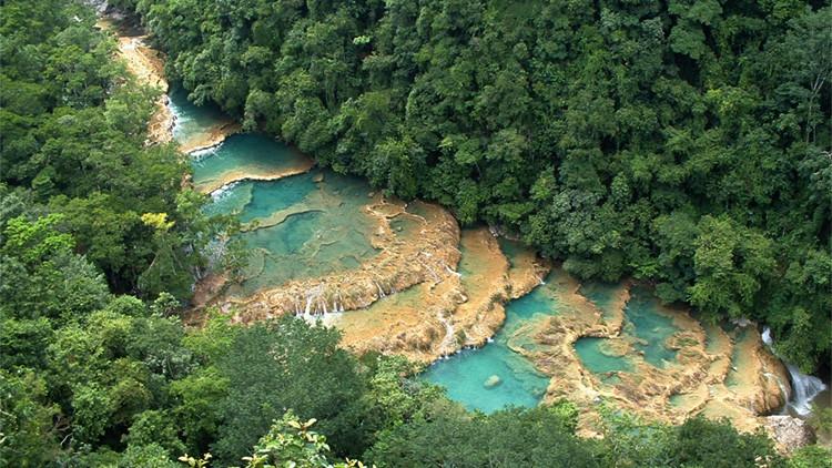 Imagen del parque Semuc Champey, en el departamento de Alto Verapaz, Guatemala.