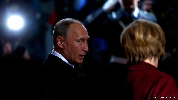 Angela Merkel y Vladimir Putin en Berlín
