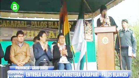Evo Morales en Caraparí