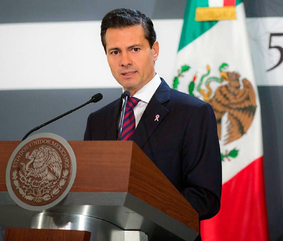 Peña Nieto durante un acto publico esta semana