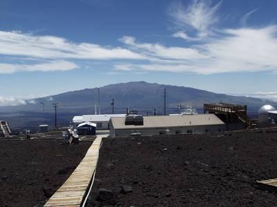 Observatorio de Mauna, en Hawai, donde se mide la cantidad de dióxido de carbono que queda en la atmósfera por el efecto invernadero (AP).
