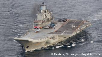 El portaviones ruso Almirante Kuznetsov.