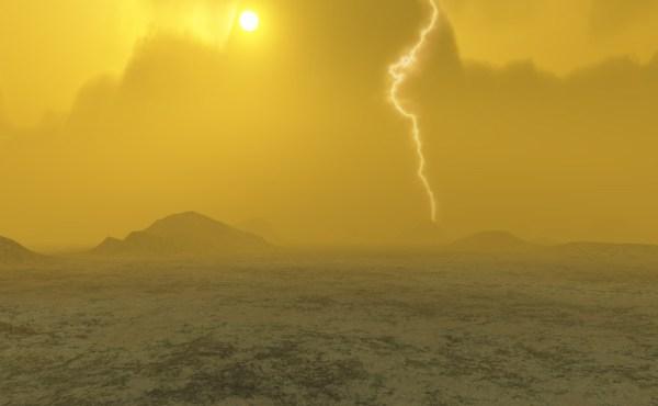 Así es la lluvia fuera de la Tierra