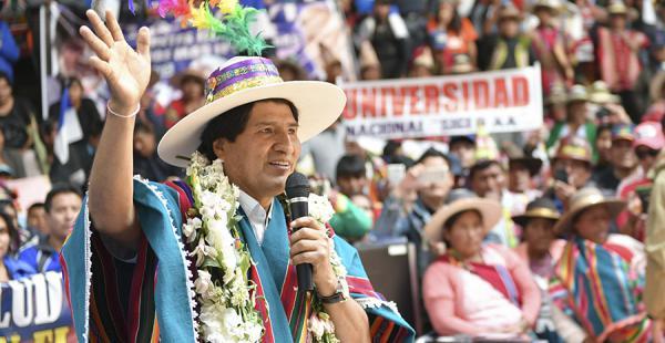 El presidente Evo Morales volvió a hablar del caso Zapata en una concentración en Potosí