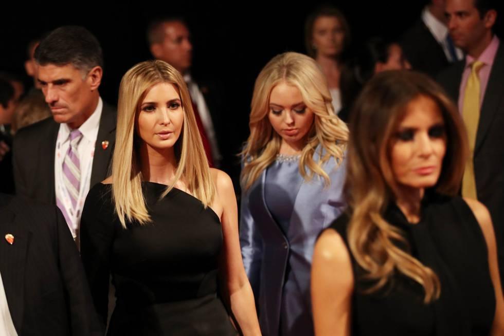Melania, Ivanka y Tiffany Trump a su llegada al tercer debate presidencial el pasado 19 de octubre en Las Vegas.
