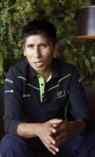 Nairo Quintana, el viernes, en Gorráiz.