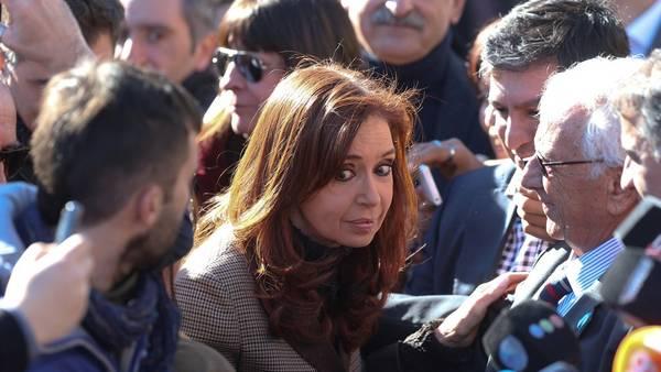 Cristina Kirchner en Tribunales la semana pasada. Foto David Fernández.